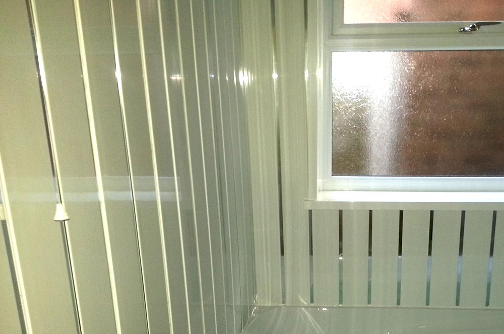 Interior cladding in a bathroom in Walsall and Brownhills